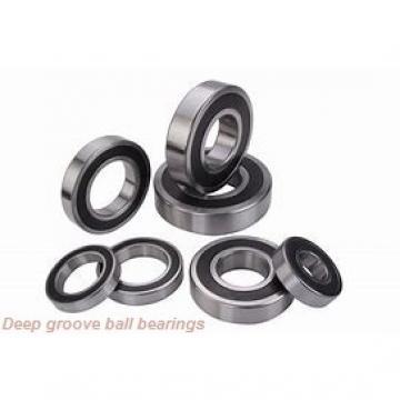 6,35 mm x 9,525 mm x 3,175 mm  skf D/W R168-2ZS Deep groove ball bearings